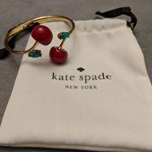 ♠️ Kate Spade cherry 🍒 gold bracelet*NEW